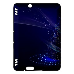 Christmas Tree Blue Stars Starry Night Lights Festive Elegant Kindle Fire Hdx Hardshell Case