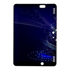 Christmas Tree Blue Stars Starry Night Lights Festive Elegant Kindle Fire Hdx 8 9  Hardshell Case