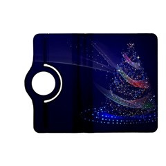 Christmas Tree Blue Stars Starry Night Lights Festive Elegant Kindle Fire Hd (2013) Flip 360 Case