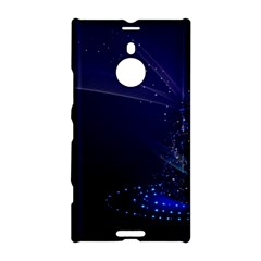 Christmas Tree Blue Stars Starry Night Lights Festive Elegant Nokia Lumia 1520
