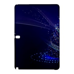 Christmas Tree Blue Stars Starry Night Lights Festive Elegant Samsung Galaxy Tab Pro 10 1 Hardshell Case