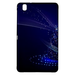 Christmas Tree Blue Stars Starry Night Lights Festive Elegant Samsung Galaxy Tab Pro 8 4 Hardshell Case