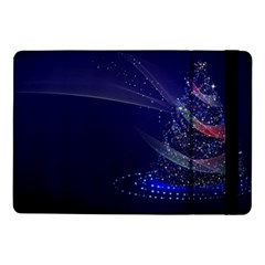 Christmas Tree Blue Stars Starry Night Lights Festive Elegant Samsung Galaxy Tab Pro 10 1  Flip Case