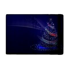 Christmas Tree Blue Stars Starry Night Lights Festive Elegant Ipad Mini 2 Flip Cases