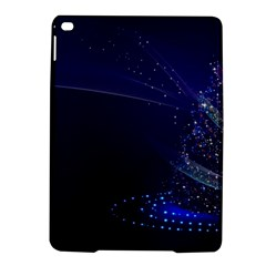 Christmas Tree Blue Stars Starry Night Lights Festive Elegant Ipad Air 2 Hardshell Cases