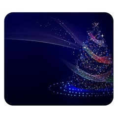 Christmas Tree Blue Stars Starry Night Lights Festive Elegant Double Sided Flano Blanket (small)