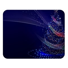 Christmas Tree Blue Stars Starry Night Lights Festive Elegant Double Sided Flano Blanket (large)