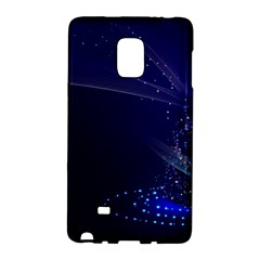 Christmas Tree Blue Stars Starry Night Lights Festive Elegant Galaxy Note Edge