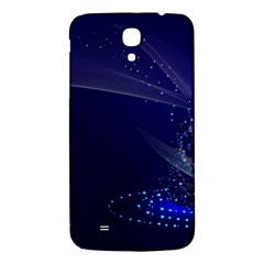 Christmas Tree Blue Stars Starry Night Lights Festive Elegant Samsung Galaxy Mega I9200 Hardshell Back Case
