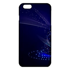 Christmas Tree Blue Stars Starry Night Lights Festive Elegant Iphone 6 Plus/6s Plus Tpu Case