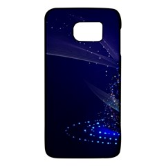 Christmas Tree Blue Stars Starry Night Lights Festive Elegant Galaxy S6