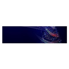 Christmas Tree Blue Stars Starry Night Lights Festive Elegant Satin Scarf (oblong)