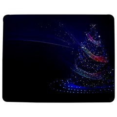 Christmas Tree Blue Stars Starry Night Lights Festive Elegant Jigsaw Puzzle Photo Stand (rectangular)