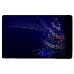 Christmas Tree Blue Stars Starry Night Lights Festive Elegant Apple Ipad Pro 9 7   Flip Case