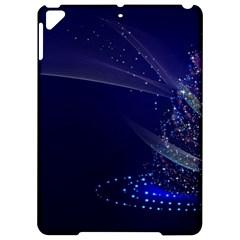 Christmas Tree Blue Stars Starry Night Lights Festive Elegant Apple Ipad Pro 9 7   Hardshell Case