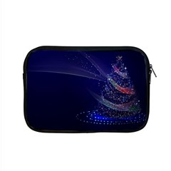 Christmas Tree Blue Stars Starry Night Lights Festive Elegant Apple Macbook Pro 15  Zipper Case