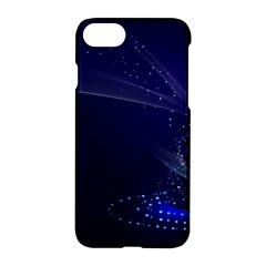 Christmas Tree Blue Stars Starry Night Lights Festive Elegant Apple Iphone 8 Hardshell Case