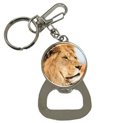 Big Male Lion Looking Right Button Necklaces