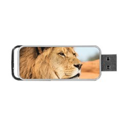 Big Male Lion Looking Right Portable Usb Flash (one Side)