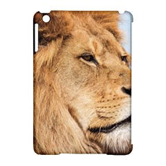 Big Male Lion Looking Right Apple Ipad Mini Hardshell Case (compatible With Smart Cover)