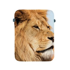 Big Male Lion Looking Right Apple Ipad 2/3/4 Protective Soft Cases