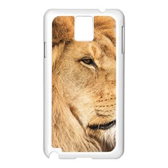 Big Male Lion Looking Right Samsung Galaxy Note 3 N9005 Case (white)