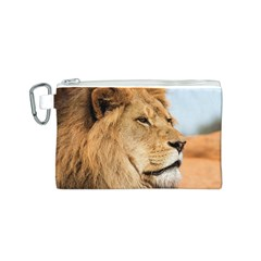 Big Male Lion Looking Right Canvas Cosmetic Bag (s)