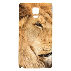 Big Male Lion Looking Right Galaxy Note 4 Back Case