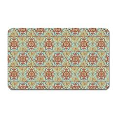 Hexagon Tile Pattern 2 Magnet (rectangular)