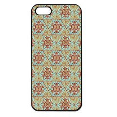 Hexagon Tile Pattern 2 Apple Iphone 5 Seamless Case (black)