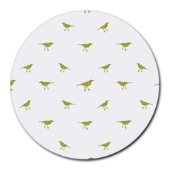Birds Motif Pattern Round Mousepads