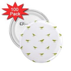 Birds Motif Pattern 2 25  Buttons (100 Pack)