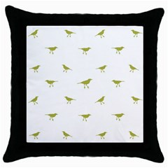 Birds Motif Pattern Throw Pillow Case (black)