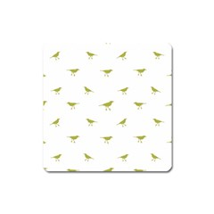 Birds Motif Pattern Square Magnet
