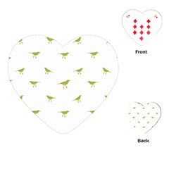Birds Motif Pattern Playing Cards (heart)