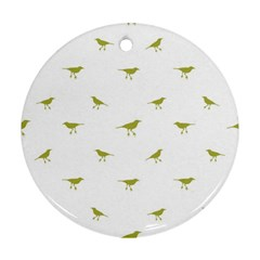 Birds Motif Pattern Round Ornament (two Sides)