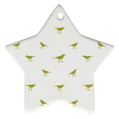 Birds Motif Pattern Star Ornament (two Sides)