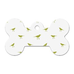 Birds Motif Pattern Dog Tag Bone (one Side)