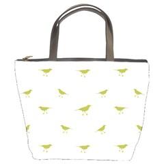 Birds Motif Pattern Bucket Bags