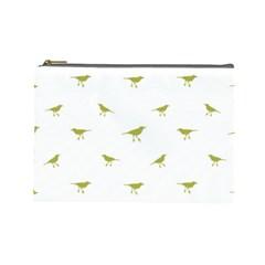 Birds Motif Pattern Cosmetic Bag (large)
