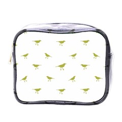 Birds Motif Pattern Mini Toiletries Bags