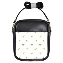 Birds Motif Pattern Girls Sling Bags