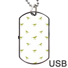 Birds Motif Pattern Dog Tag Usb Flash (one Side)