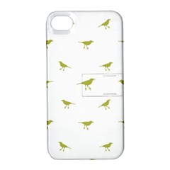 Birds Motif Pattern Apple Iphone 4/4s Hardshell Case With Stand