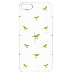 Birds Motif Pattern Apple Iphone 5 Hardshell Case With Stand