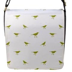 Birds Motif Pattern Flap Messenger Bag (s)