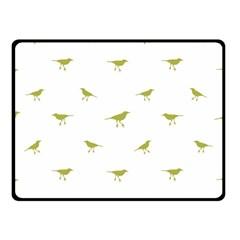 Birds Motif Pattern Double Sided Fleece Blanket (small)