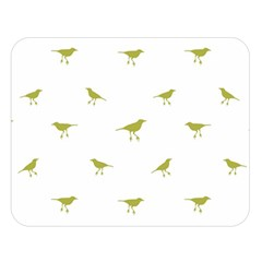 Birds Motif Pattern Double Sided Flano Blanket (large)