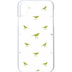 Birds Motif Pattern Apple Iphone X Seamless Case (white)