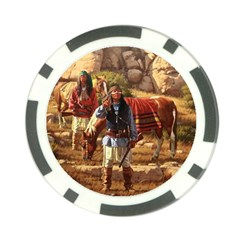 Apache Braves Poker Chip Card Guard